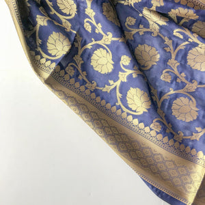Navy Night Banarsi Dupatta, Dupatta - THE KUNDAN SHOP