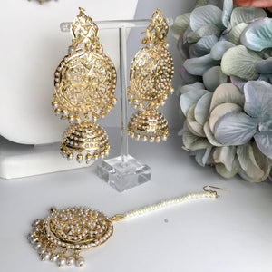 A Hint Of Gold, Necklace Sets - THE KUNDAN SHOP