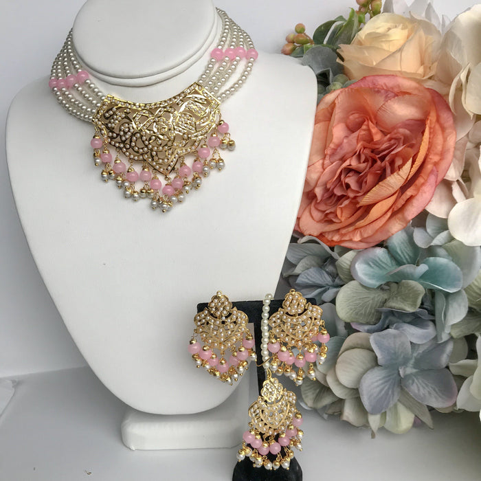 Youthful - Light Pink, Jadau - THE KUNDAN SHOP