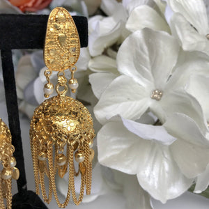 Jago Night, Earrings + Tikka - THE KUNDAN SHOP