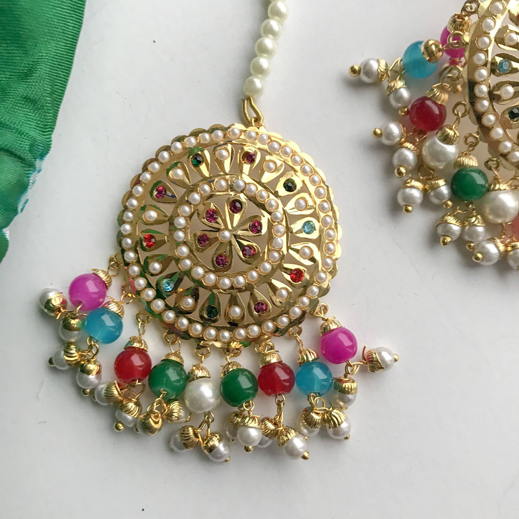 Multi Round Jadau Stud, Jadau - THE KUNDAN SHOP