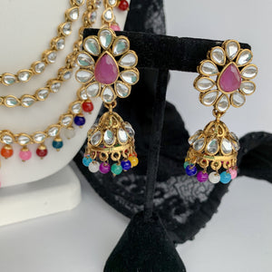 Multi Colour Raani Haar Set, Necklace Sets - THE KUNDAN SHOP