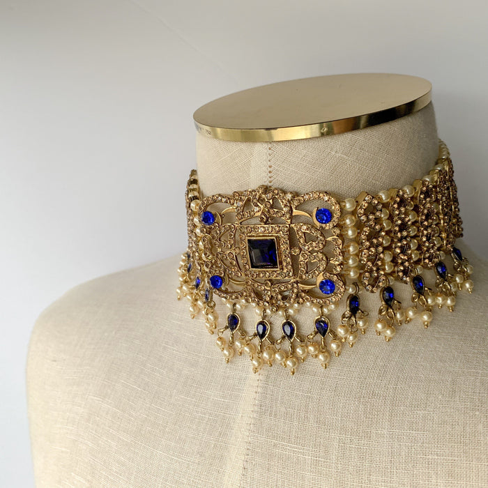 Magnificant Blue, Necklace Sets - THE KUNDAN SHOP