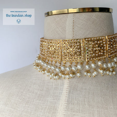 Classic & Timeless - Pearl, Jadau - THE KUNDAN SHOP