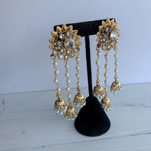 Chandelier Rhinestone Earrings, Sahara Earrings - THE KUNDAN SHOP