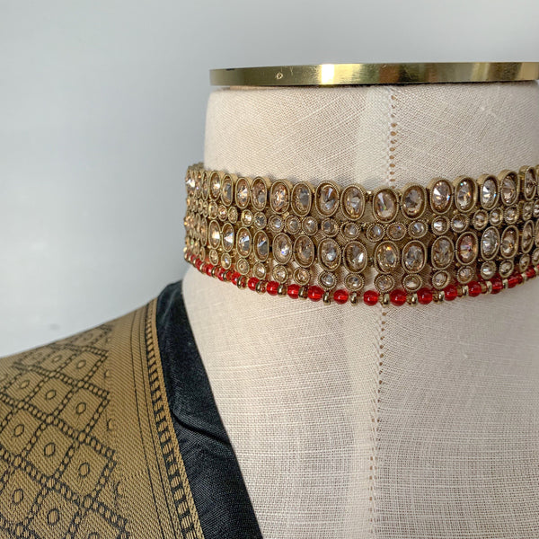 The Ruby - Choker Only, Necklace Sets - THE KUNDAN SHOP