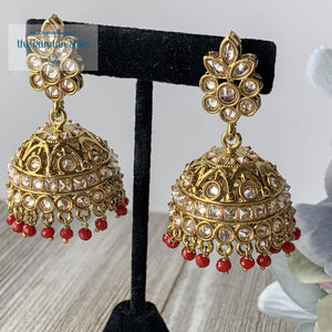 Center of Attention - Ruby, Earrings - THE KUNDAN SHOP