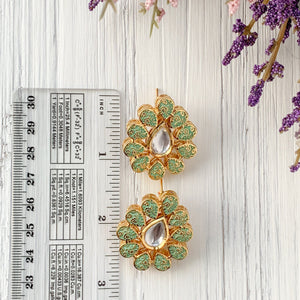 A Kundan Raindrop Earrings THE KUNDAN SHOP