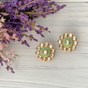 A Kundan Sun, Earrings - THE KUNDAN SHOP
