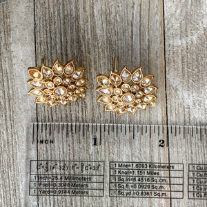 Mini Polki Studs, Earrings - THE KUNDAN SHOP