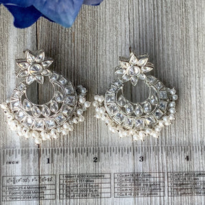 Cloud of Silver, Earrings - THE KUNDAN SHOP