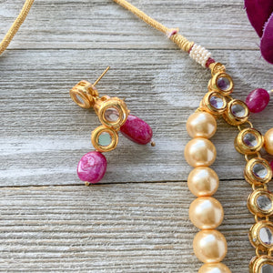 Precious Kundan & Meenakari - Pink, Necklace Sets - THE KUNDAN SHOP
