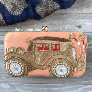 Riding In Style, Clutch - THE KUNDAN SHOP