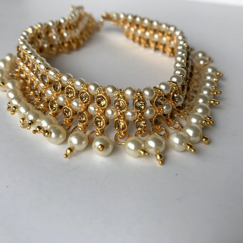 Hanging Pearl Anklets, Anklets - THE KUNDAN SHOP