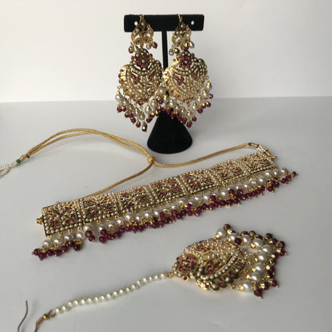 Classic & Timeless - Ruby, Jadau - THE KUNDAN SHOP
