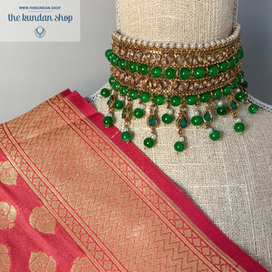 Irresistable - Green, Necklace Sets - THE KUNDAN SHOP