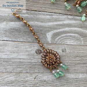 Irresistable - Mint, Necklace Sets - THE KUNDAN SHOP