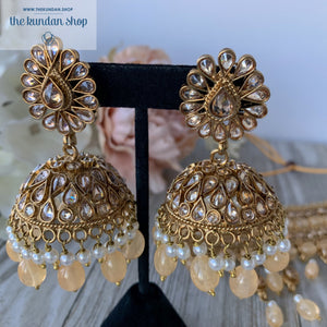 Irresistable - Peach, Necklace Sets - THE KUNDAN SHOP