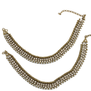 Anklet with stones, Anklets - THE KUNDAN SHOP