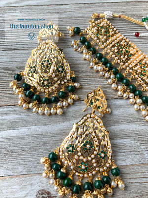 Classic & Timeless - Green, Necklace Sets - THE KUNDAN SHOP