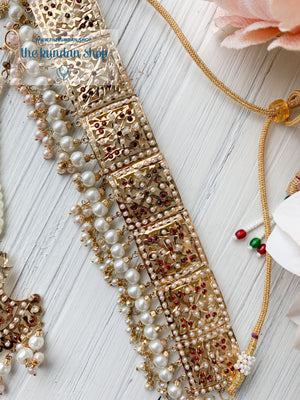 Classic & Timeless - Pearl & Stones 2.0, Necklace Sets - THE KUNDAN SHOP