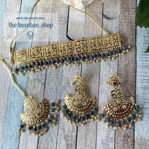 Classic & Timeless - Grey 2.0 Necklace Sets THE KUNDAN SHOP