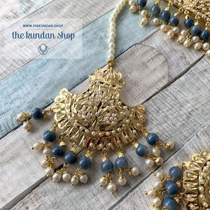 Classic & Timeless - Grey 2.0, Necklace Sets - THE KUNDAN SHOP