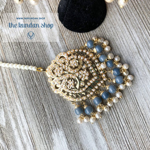 Classic Jumki's - Grey, Earrings + Tikka - THE KUNDAN SHOP