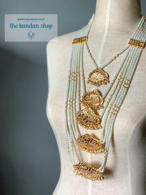 Jadau Multi Layer Haar Necklace Sets THE KUNDAN SHOP