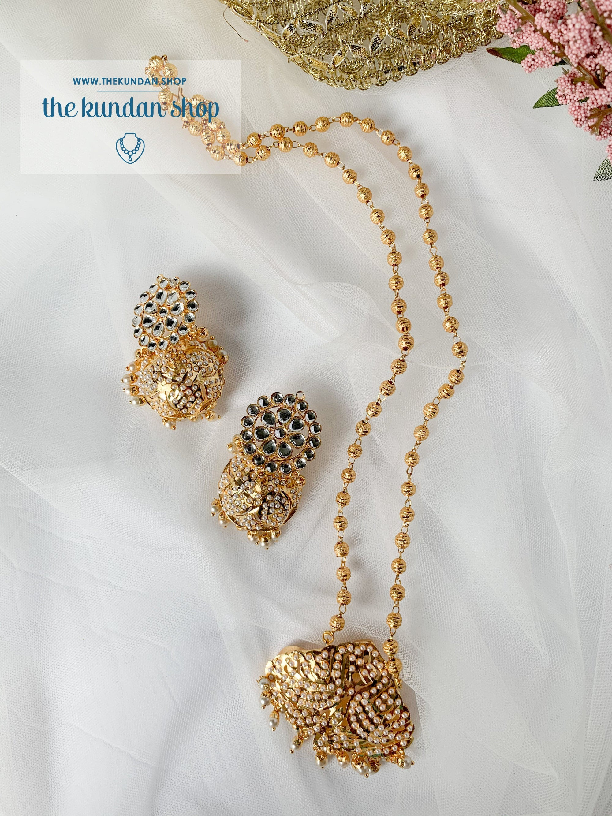 Enthralled Jadau Set Necklace Sets THE KUNDAN SHOP