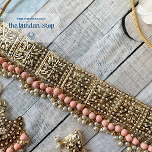 Classic & Timeless - Peach 2.0, Necklace Sets - THE KUNDAN SHOP
