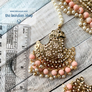 Classic & Timeless - Peach, Necklace Sets - THE KUNDAN SHOP