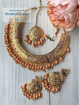 Sangeet Night - Peach, Necklace Sets - THE KUNDAN SHOP