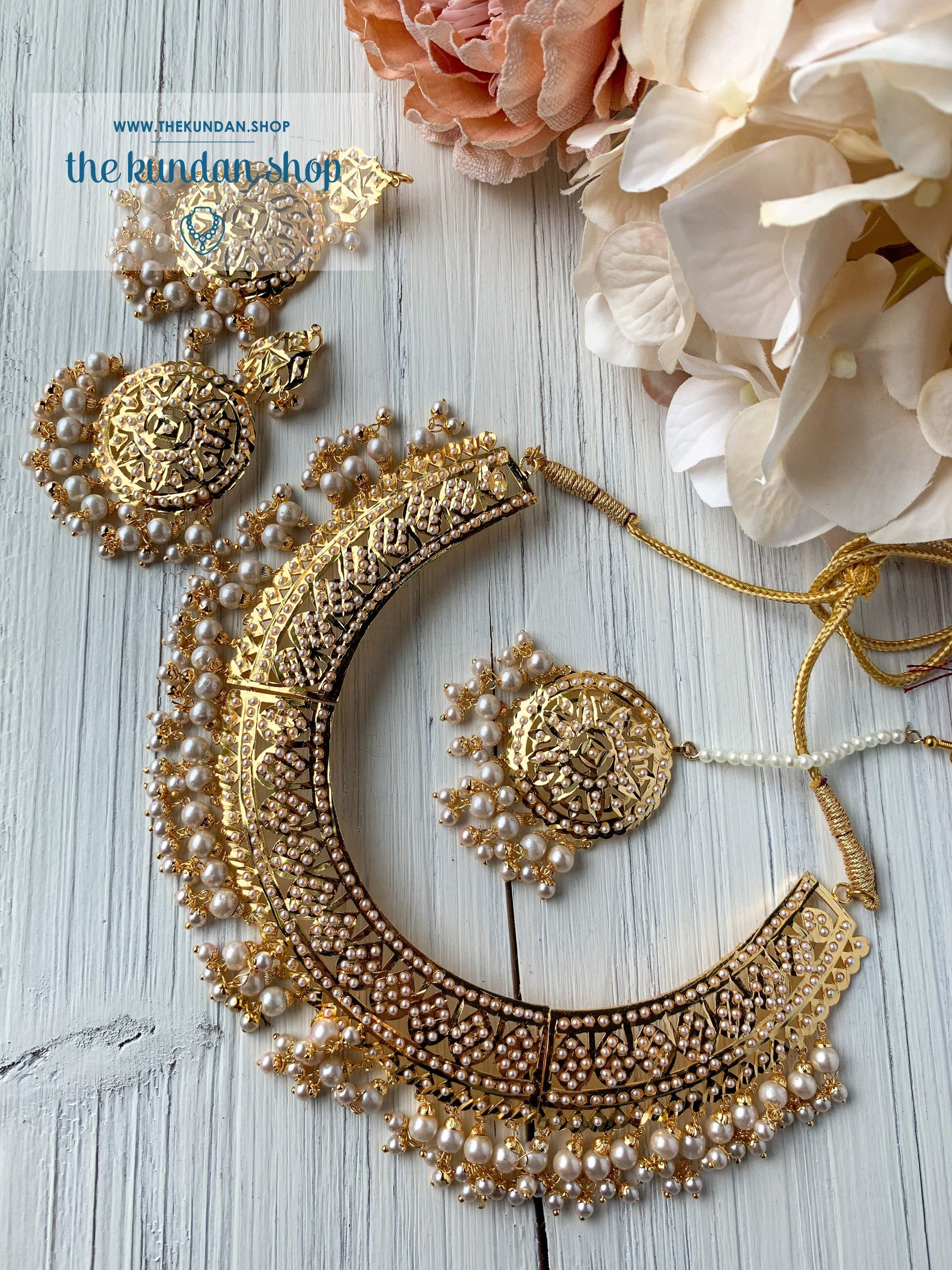 Sangeet Night - Pearl, Necklace Sets - THE KUNDAN SHOP