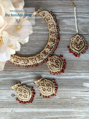 The Perfect Ruby Pendant, Necklace Sets - THE KUNDAN SHOP