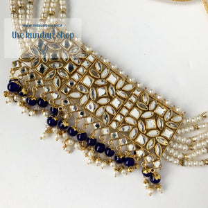 Jealousy - Blue, Necklace Sets - THE KUNDAN SHOP