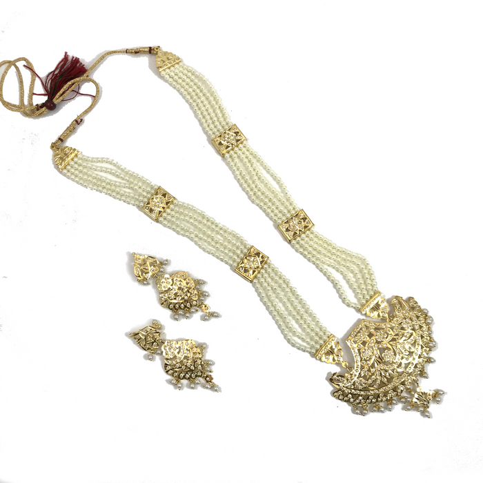 All Gold Jadau Set, Jadau - THE KUNDAN SHOP