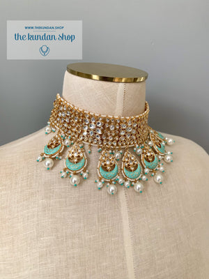 Blue Sunrise, Necklace Sets - THE KUNDAN SHOP