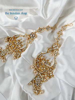 Elongated in Kundan Earrings THE KUNDAN SHOP
