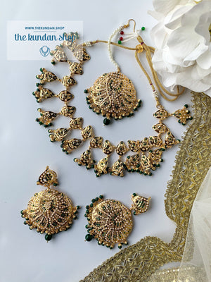 Smitten in Green, Necklace Sets - THE KUNDAN SHOP