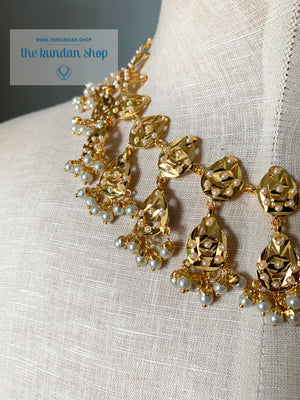 Smitten in Pearl, Necklace Sets - THE KUNDAN SHOP