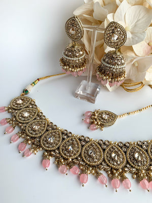 Ideal in Light Pink Necklace Sets THE KUNDAN SHOP Style 2