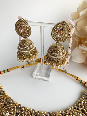 Ideal in Light Pink Necklace Sets THE KUNDAN SHOP