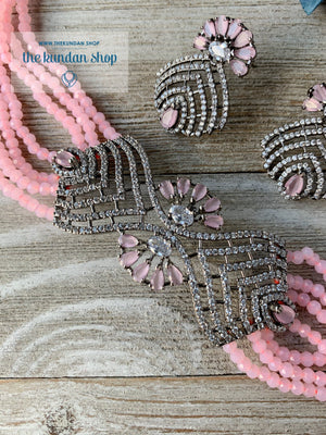 Lush in Pink Necklace Sets THE KUNDAN SHOP
