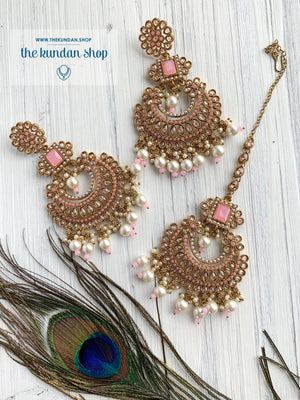 Endearing Polki in Light Pink THE KUNDAN SHOP