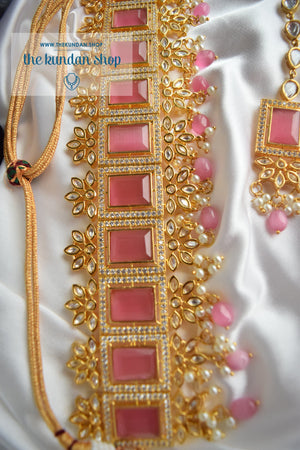 Regality in Light Pink Necklace Sets THE KUNDAN SHOP