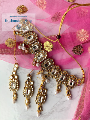 Loyals 2.0 in Clear Stone, Necklace Sets - THE KUNDAN SHOP