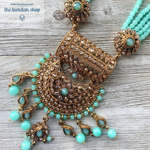 Endless Love - Cyan, Necklace Sets - THE KUNDAN SHOP
