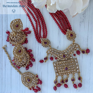 Endless Love - Ruby, Necklace Sets - THE KUNDAN SHOP