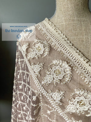 A Light Mauve Dupatta, Dupatta - THE KUNDAN SHOP